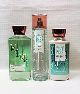 Bath & Body Works ~ Signature Collection ~ Winter 2017 ~ Coconut Mint Drop ~ Shower Gel - Fine Fragrance Mist & Body Lotion – Trio Gift Set