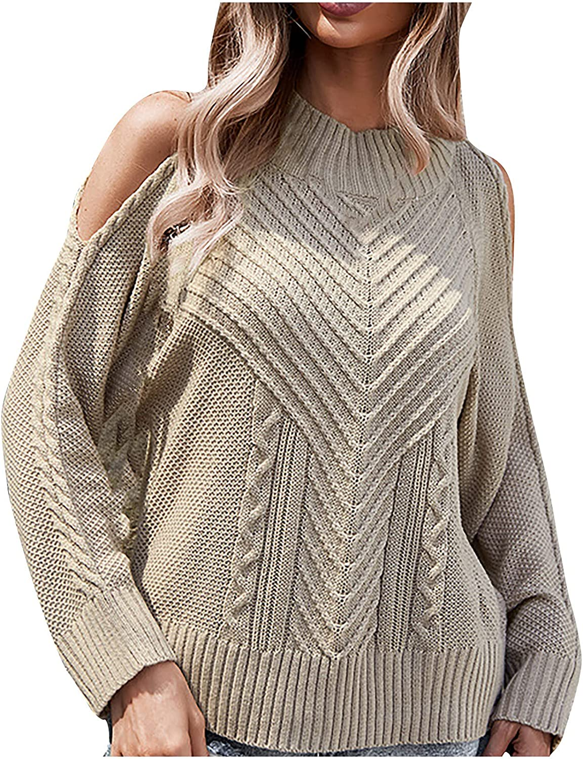 Women Casual Store Loose Long Sleeve Winter Knitted Swea Shoulder 35% OFF Cold