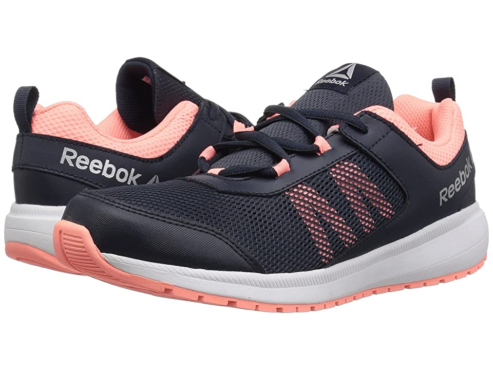 Reebok Kids Road Supreme (Little Kid/Big Kid) (Navy/Pink) Girls Shoes