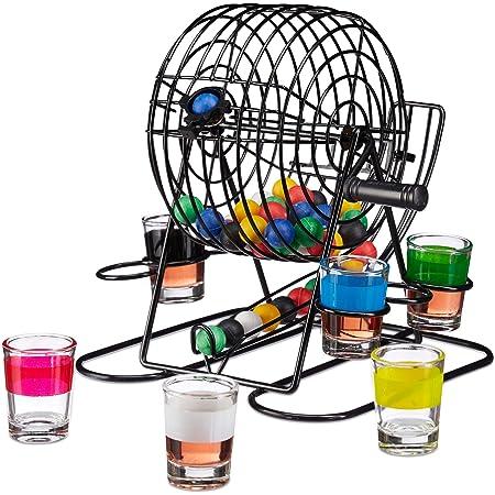 Gadget Feste Game Giochi Alcolici Divertenti Festa di Laurea Party Goliardici Bevute di Gruppo Addio al Celibato Idee Regalo Originali per Lui MostroMania Bingo da Bere