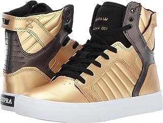 Supra Kids Supra Kids Boy's Skytop (Ni?o peque?o / Big Kid) Dorado / Negro / Zapato deportivo blanco
