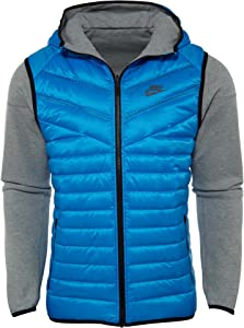Nike Tech Men's Fleece Aeroloft Windrunner 614665-063 Blue Grey