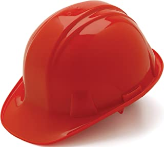 Pyramex Safety Products HP14120 Sl Series 4 Pt. Ratchet Suspension Hard Hat, Red
