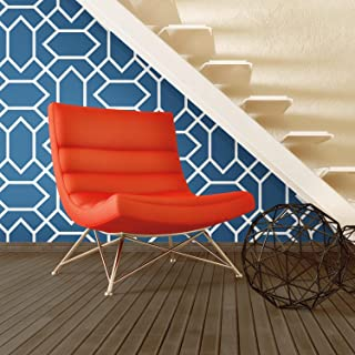 RoomMates Blue Modern Geometric Peel and Stick Wallpaper