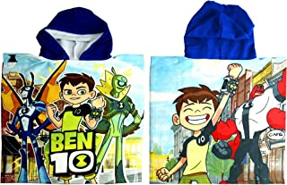 Ben 10 Hooded Towel, Poncho,Children's Beach Towel,Official Licensed (Navy)