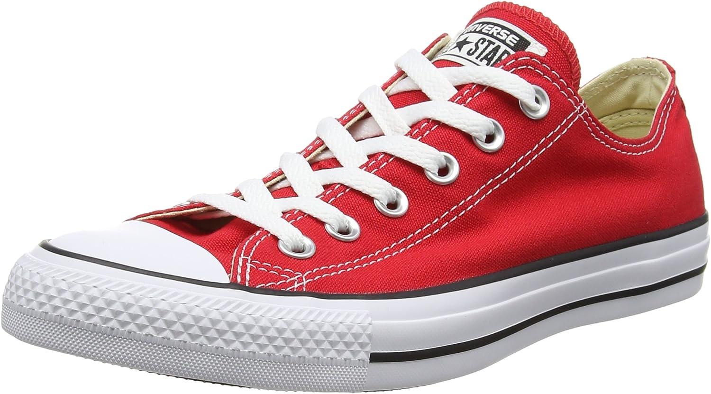 Converse Unisex Chuck Taylor All All All Star OX skor (7.5 Män 9.5 Kvinnor, Röda)  100% helt ny med originalkvalitet