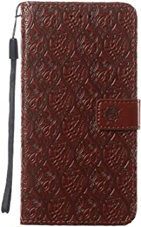 Leather Flip Case Fit for Samsung Galaxy Note 10, brown Wallet Cover for Samsung Galaxy Note 10