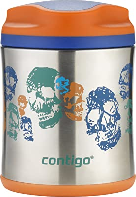 Contigo 507561 Food Jar, Skeletons 300 ml Capacity, Multicolored