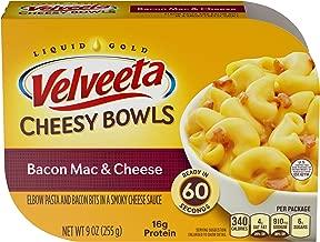 Velveeta Cheesy Bowls Bacon Mac and Cheese, 9 oz Box (Pack of 6)