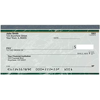 Value Price Green Marble Top Tear Personal Checks (1 Box of Duplicates, Qty. 100)