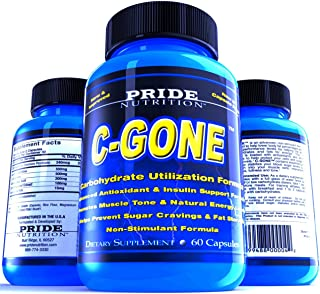 #1 Fat Burner - C-Gone 60 Pills - Best Carb Blocker and Fat Absorber - Non-Stimulant Weight Loss Supplement with Chromium ...