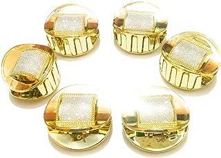 746149e01 Beautify u Combo of 6 Piece Golden Plastic Clutch with 12 Pieces Tic Tac  Clip,