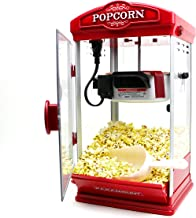 Popcorn Maker Machine by Paramount – New 8oz Capacity Hot-Oil Popper [Color: Red]