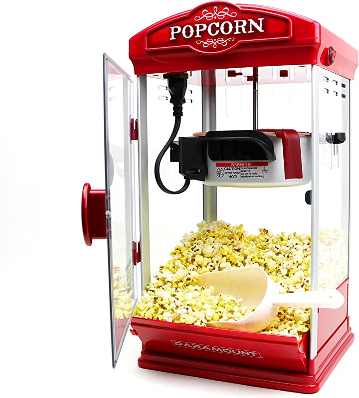 Popcorn Maker Machine By Paramount New 8oz Capacity Hot Oil Popper Color Red