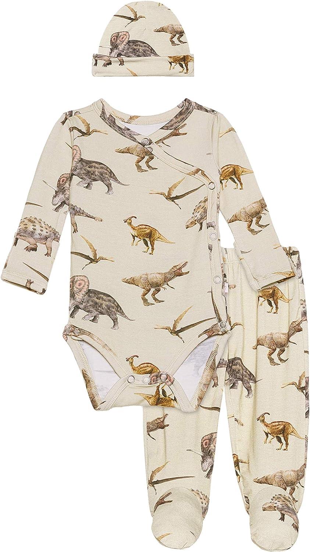 Posh Peanut Baby Pajama Set - Long Sleeve Kimono Onesies Bodysuit from Soft Viscose from Bamboo 0-3 Months