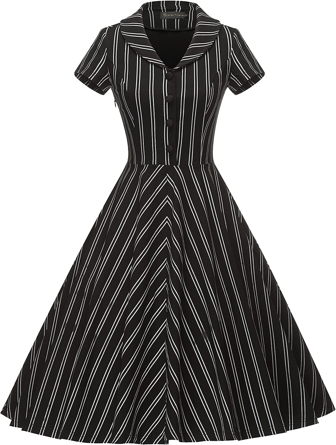 Easy Retro Halloween Costumes – Last Minute Ideas GownTown Womens 1950s Vintage Plaid Swing Dress with Pockets  AT vintagedancer.com