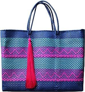 Bolsa artesanal tejida a mano para playa