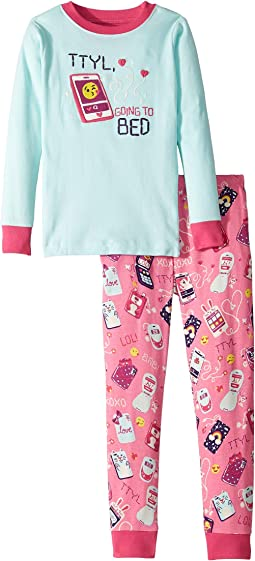TTYL Organic Cotton Applique Pajama Set (Toddler/Little Kids/Big Kids)