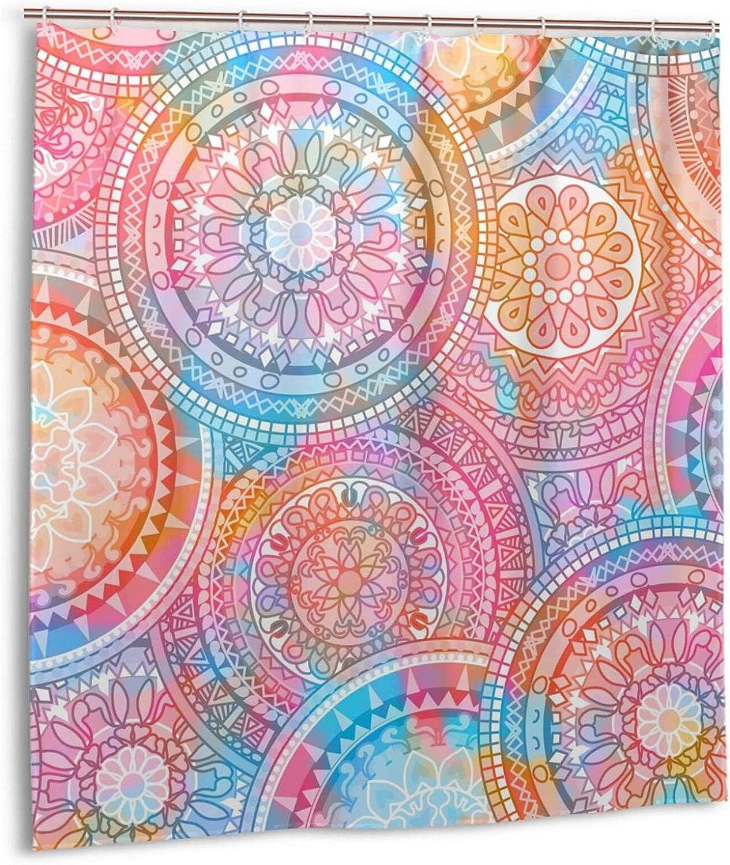 Multicolor Oriental Mandala Shower Fabric Polyester Curtain Bath Max Ranking TOP9 89% OFF