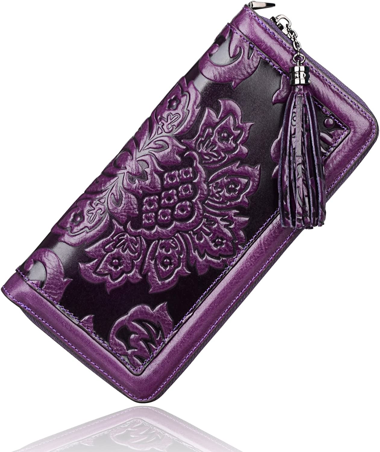Ranking TOP12 PIJUSHI Leather Wallets Beauty products For Women Card Ho Wallet Wristlet Floral