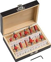 Meister freesset 12-delig - voor houtbewerking - voor bovenfrezen met 8 mm schacht - hardmetaal/groeffrees/tandfrees/verzo...