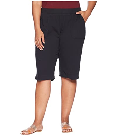 Fresh Produce Plus Size Key Largo Pedal Pusher (Black) Women