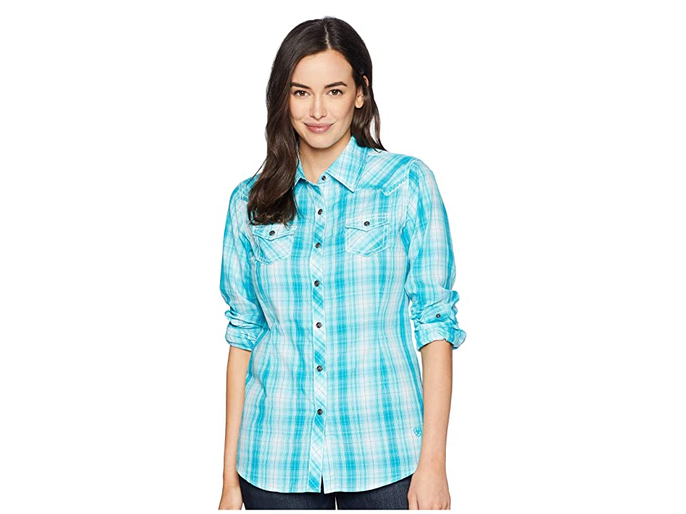Ariat Real Stunning Snap Shirt (Perfect Turquoise) Women