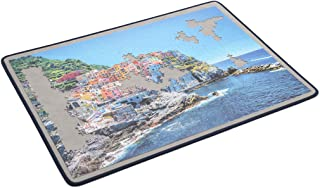 Becko Jigsaw Puzzle Board Portable Puzzle Mat for Puzzle Storage Puzzle Saver, Non-Slip Surface, Sturdy and Movable, Up to 1500 Pieces (Blue/Dark Grey)