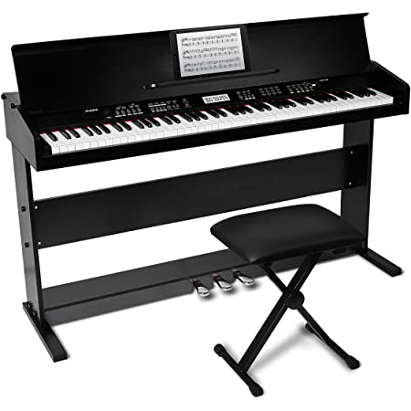 Stand Bench DJ Headphones MORE Pedal Alesis Recital Pro 88-Key Digital Piano with Hammer-Action Keys