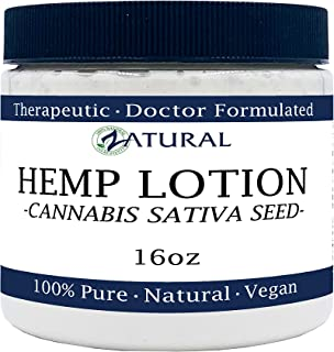 Hemp Lotion - Therapeutic Body Lotion with Hemp Seed Oil (16 Ounce Jar)