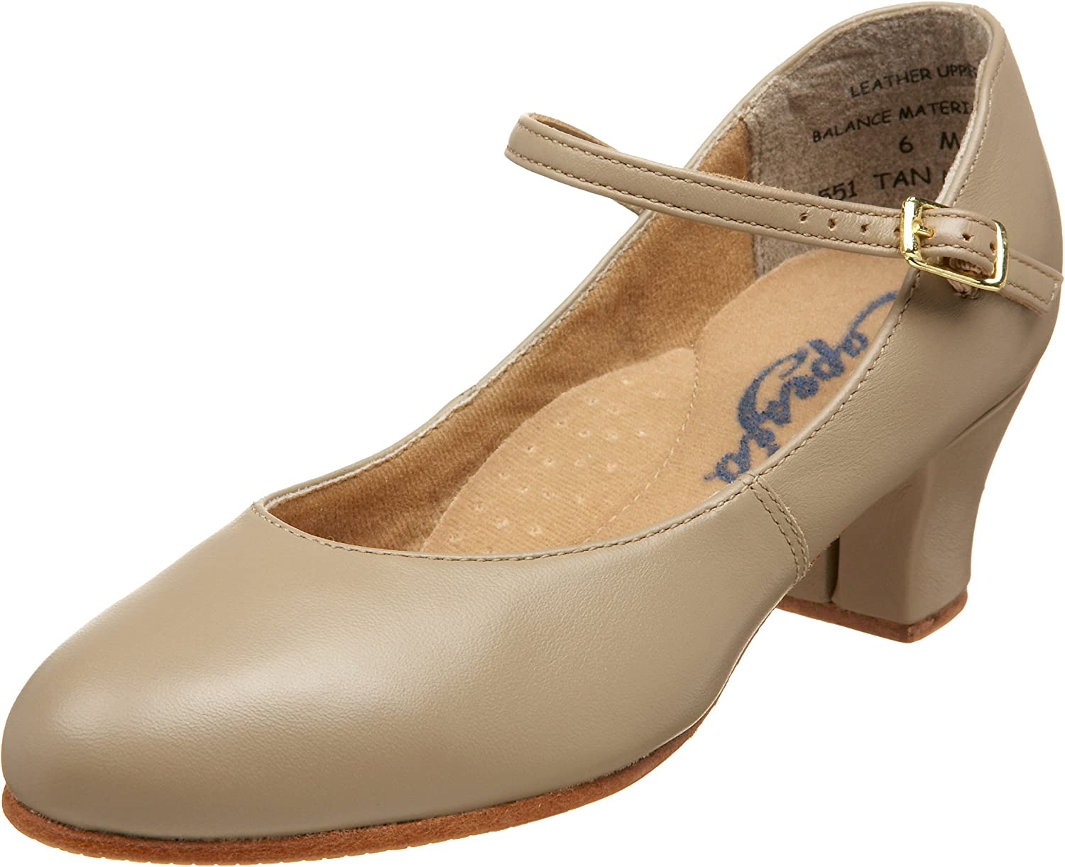 Capezio Women's 551 Leather Jr. Footlight Character shoes