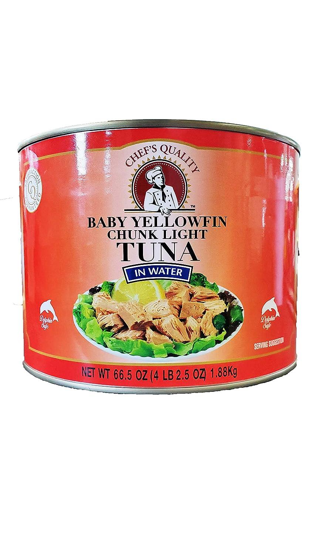 Chef's Quality Baby Yellowfin Chunk Light Tuna in Water, 66.5oz
