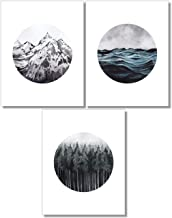 Landscape Wall Art - Mountain Forest Ocean Prints - Set of 3-11x14 - Nature Decor - Unframed