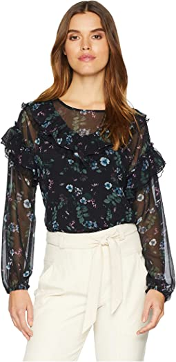 Winter Night Floral Blouse KSNK4772