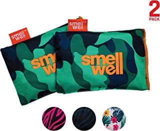 SmellWell Odor Eliminating Air Purifying Bags (2 Pack | 100g) Activated Bamboo Charcoal Air Freshener for use from Gym to Car to Home
