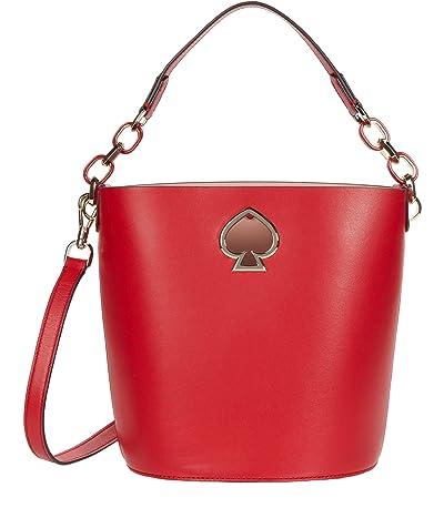Kate Spade New York Suzy Small Bucket (Hot Chili) Handbags