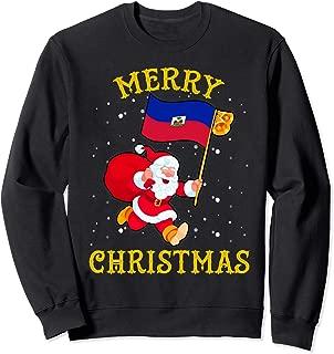 Santa Haiti Merry Christmas Xmas Sweatshirt