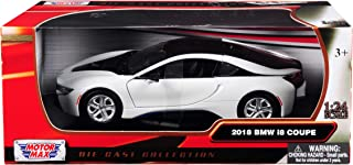 2018 BMW i8 Coupe Metallic White with Black Top 1/24 Diecast Model Car by Motormax 79359