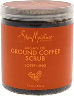 Shea Moisture Argan Oil Coffee Scrub for Unisex, 12 Ounce