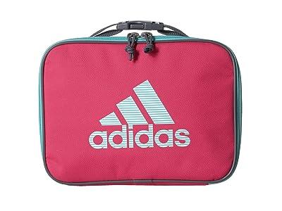 adidas Kids Foundation Lunch Bag (Little Kids/Big Kids) (Real Pink/Clear Aqua/Sundown Print) Bags