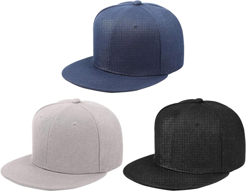 Geyoga Baseball Dad Cap Flat Adjustable Snapback Hat Unisex Hip Hop Baseball Cap for Men Women Outdoor Activities