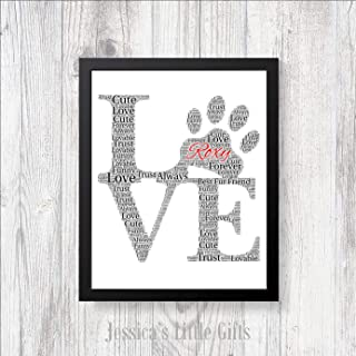 Best personalised dog word art Reviews