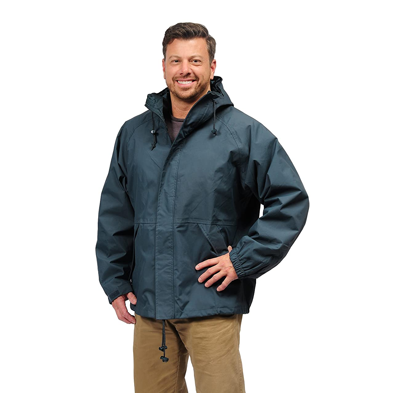 Galeton 7991-XL-SLT Repel Rainwear Breathable Durable Waterproof Rain Jacket, XL, Slate