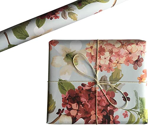 Aakar Pack of 5 | Size 29 x 19 Inches | Wrapping Paper Sheets for Craft, Packing, Birthday, Diwali (Hydrangeas)