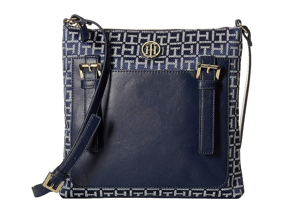 Tommy Hilfiger Imogen Crossbody (Navy/White) Handbags