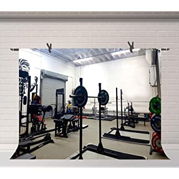 10x6.5ft Background Fitness Party Photography Backdrop Muscle Sports Club Studio Photo Props LHFU430