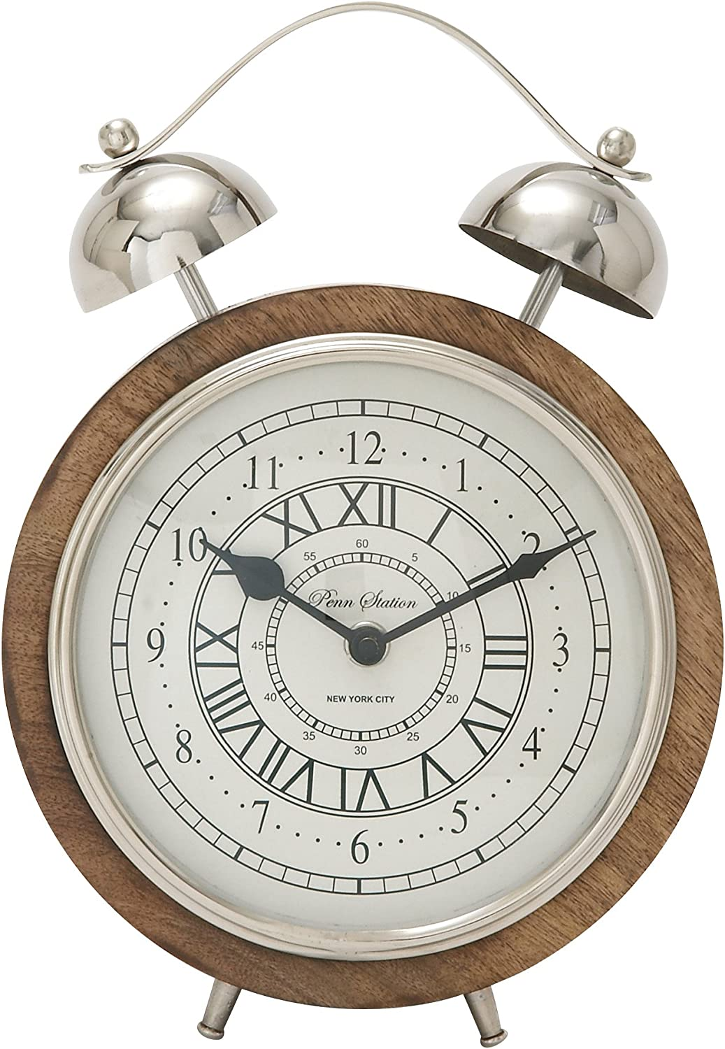 Deco Popular popular 79 40656 Direct stock discount Outstanding Wood Stainless Table Clock Steel