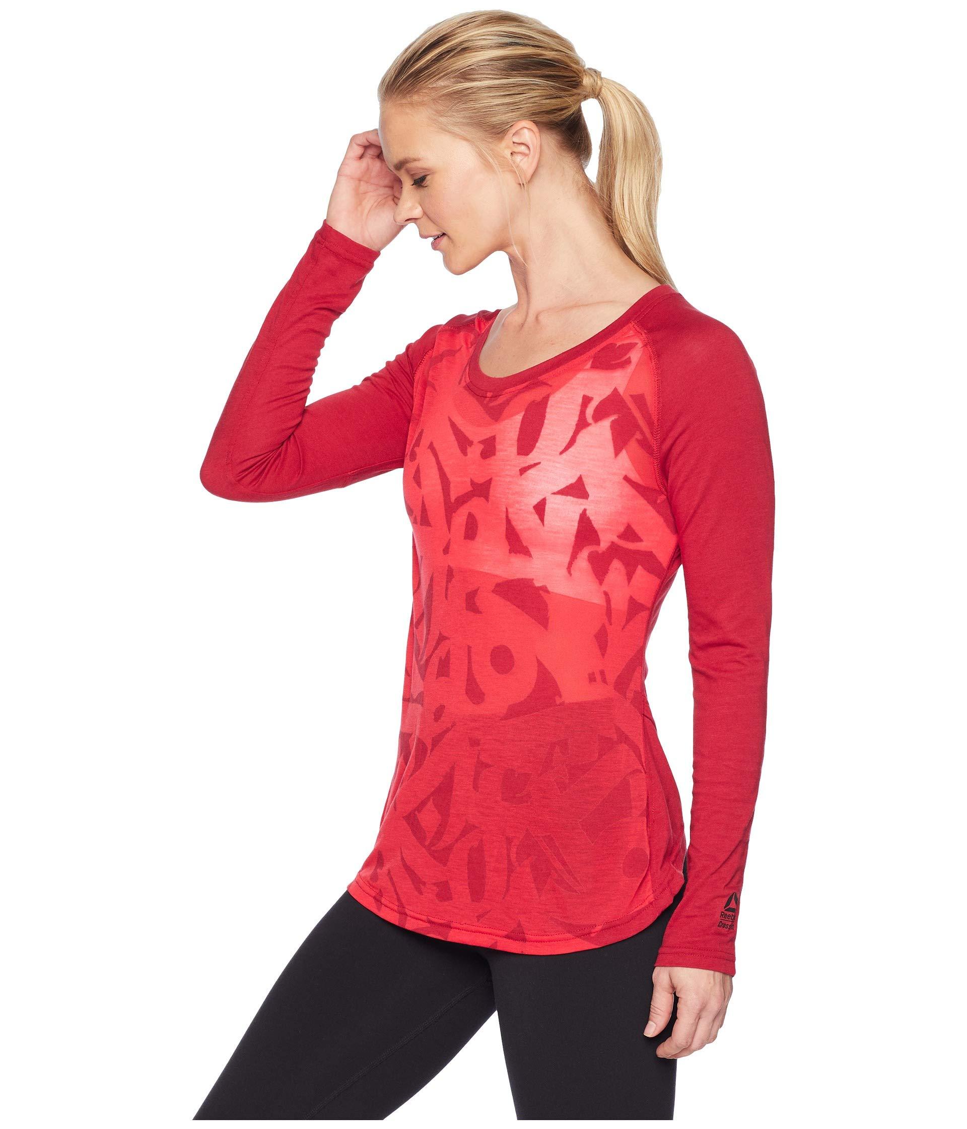 Magnum Long Sleeve Crossfit Rich shirt Burnout Reebok T 0C6q7