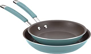 Rachael Ray 16347 Cucina Nonstick Frying Pan Set / Fry Pan Set / Skillet Set - 9.25 Inch and 11 Inch, Blue