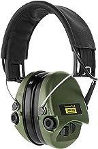 Sordin Supreme PRO X - actieve gehoorbescherming SOR75302-X/L elektronische gehoorbescherming lederen band groene cups